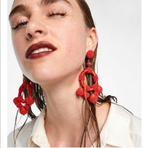 Zara Beaded Statement Dangle Earrings